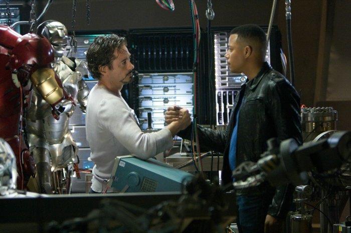 Tony Stark mit seinem Freund Rhodey
