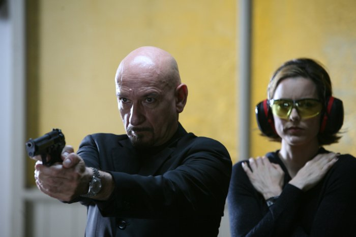 Frank trainiert, Laurel schaut zu