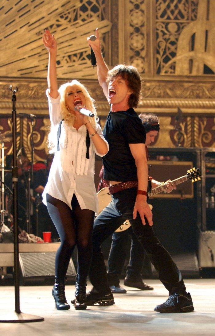 Mick Jagger im Duett mit Christina Aguilera