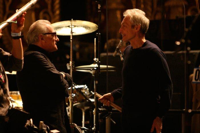 Kleine Pause mit Martin Scorsese und Charlie Watts