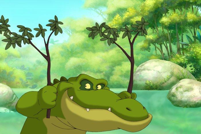 Das Krokodil Arnold hat Dodo zum Fressen gerne