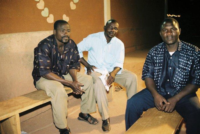 Lassane, Luc und Zakaria aus Burkina Faso