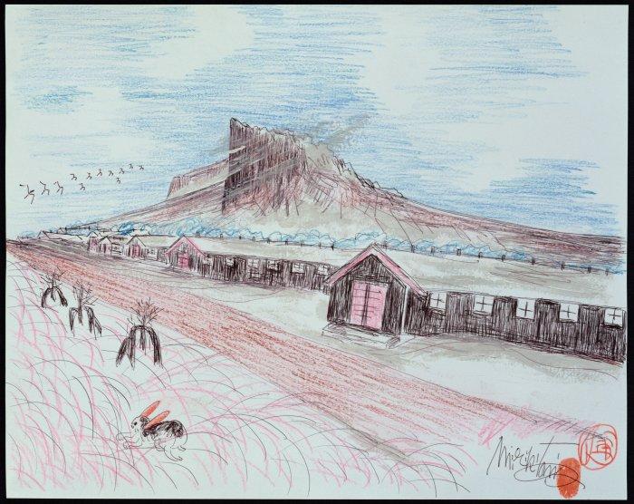 Zeichnung vom Lager Tule Lake