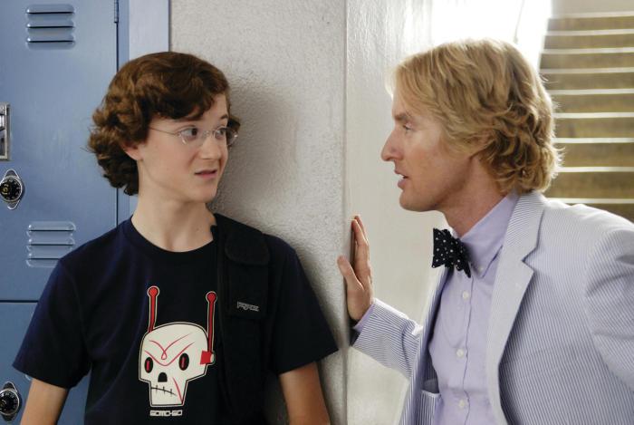 In der Schule nur mit Krawatte: Owen Wilson