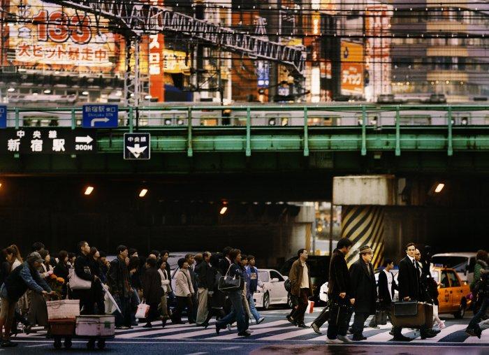 Hektisches Treiben in der Metropole Tokio