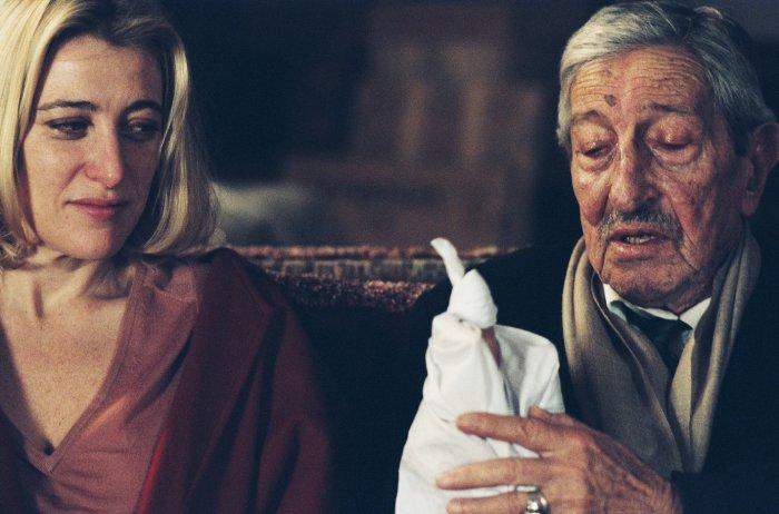 Marcelline holt sich Rat beim Vater (Maurice Garrel)