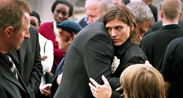 Während der Beerdigung