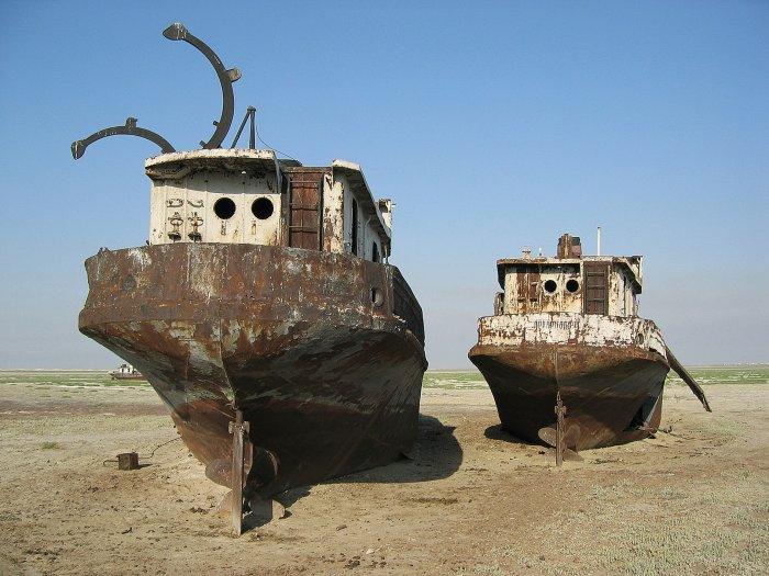 Bizarrer Schiffsfriedhof in Kasachstan