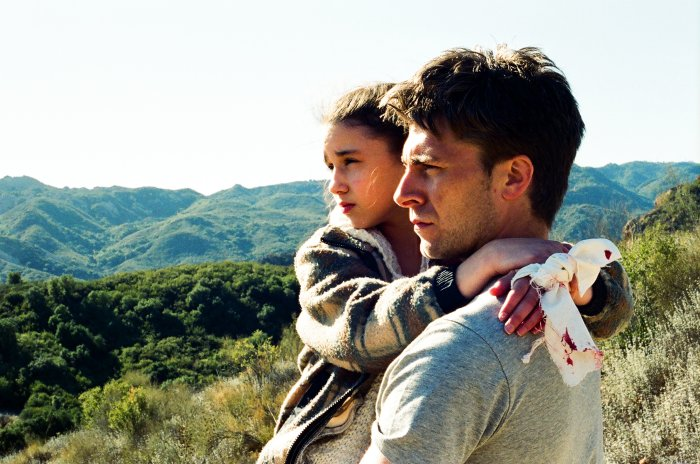 Vater und Tochter auf der Flucht