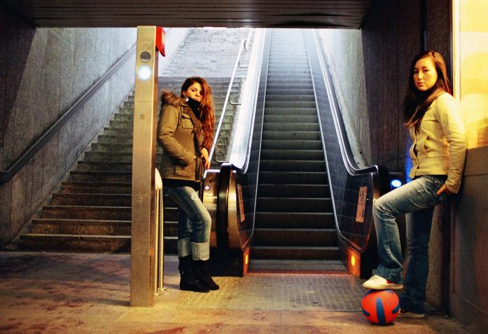 In der Münchener U-Bahn