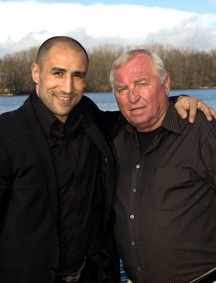 Arthur Abraham mit Trainer Ulli Wegner