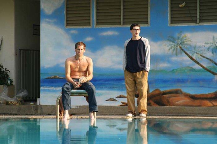 Die beiden Brüder am Pool