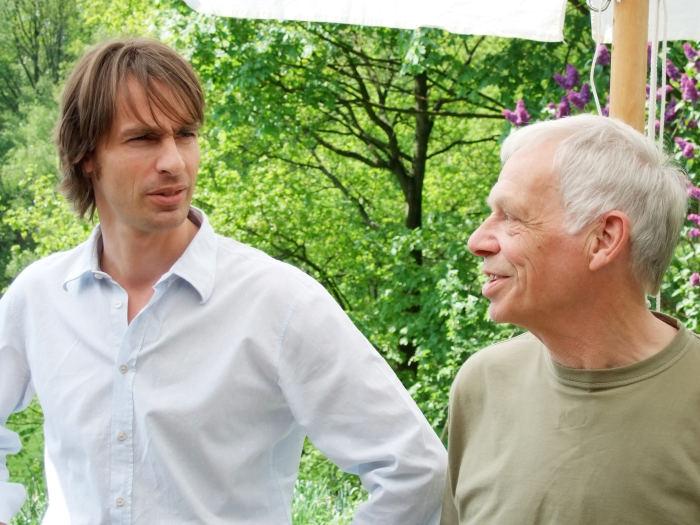 Schäfer und Precht beim Interview