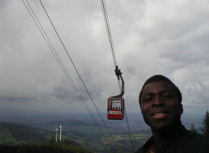 Madou Coulibaly bei einem Besuch im Schwarzwald