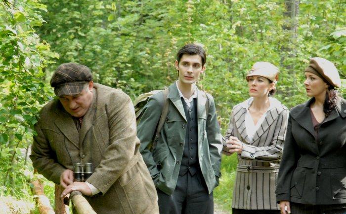 Morduch Halsman (Heinz Hoenig) mit Familie
