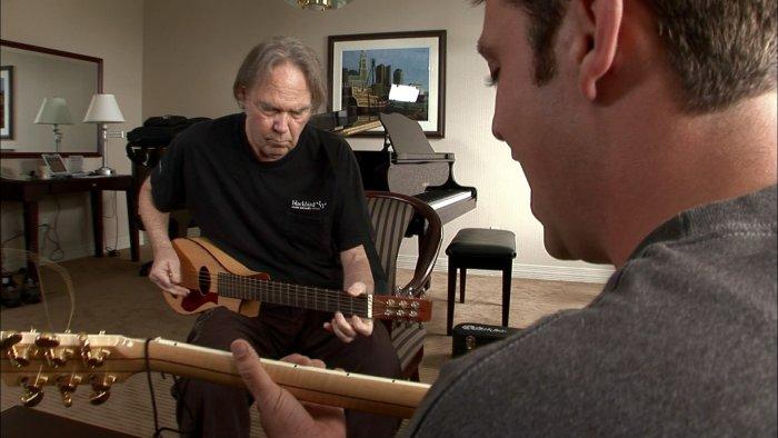 Neil Young beim Proben mit Josh Hisle