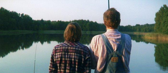 Domühl und Hagen beim Angeln