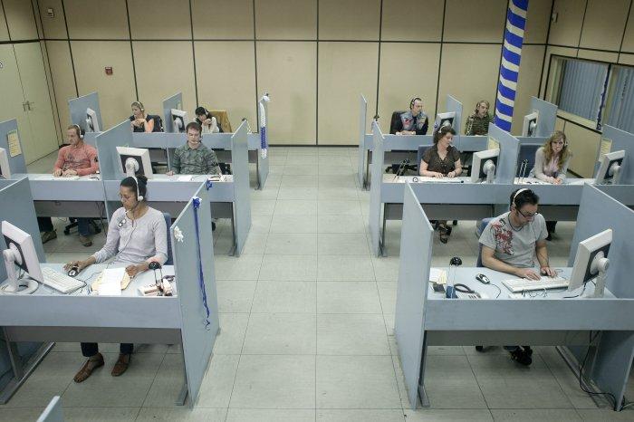 Das Callcenter ist straff organisiert