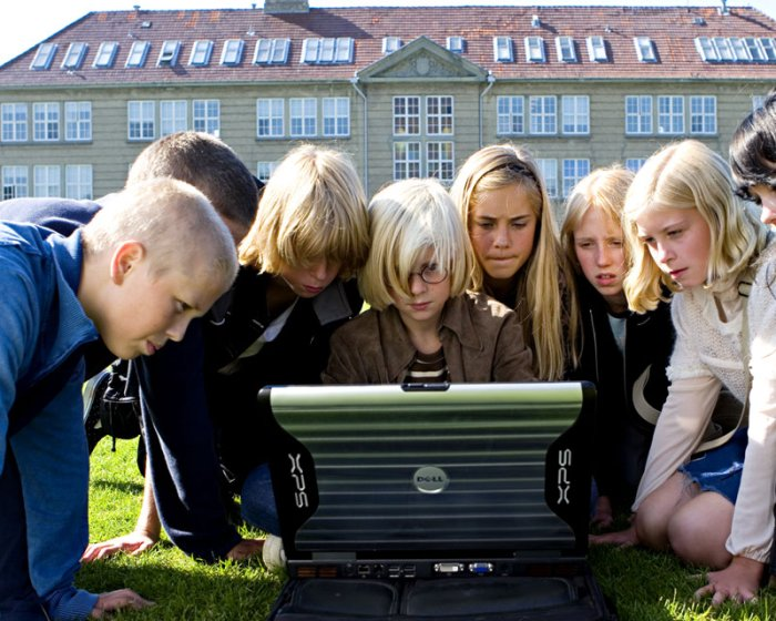 Die Schüler stellen Nachforschungen an