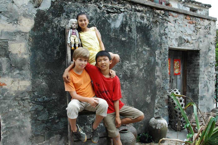 Mozart, Lin-Lin, Li Wei und Danny