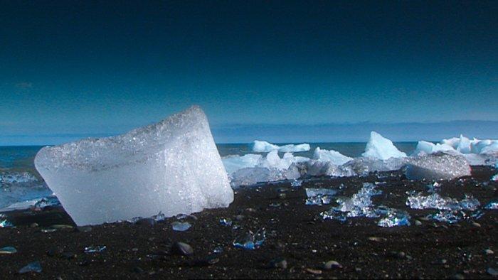 Eiskristalle auf Island