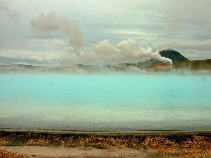 Rauch und Nebel über Island