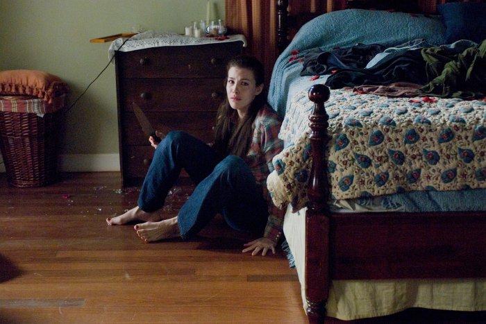 Kristen hat sich ins Schlafzimmer zurückgezogen