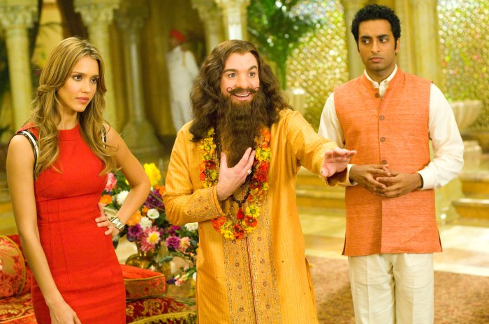 Jane mit Guru Pitka und Rajneesh (Manu Narayan)