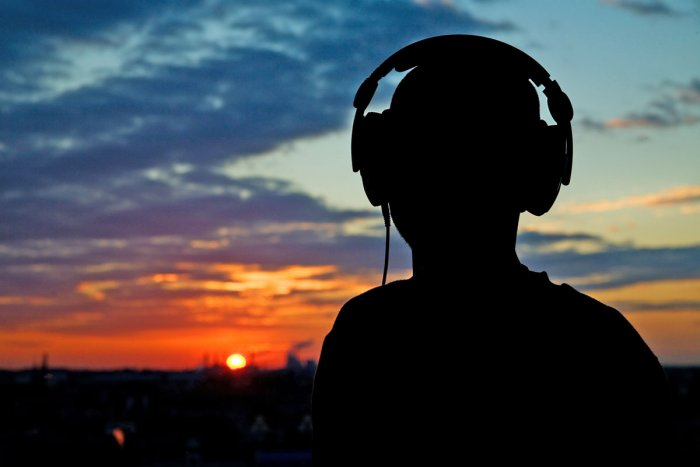 Martin Karow vor dem Sonnenuntergang