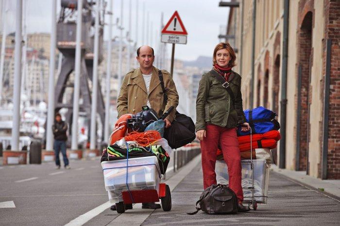 Mit Sack und Pack durch Genua