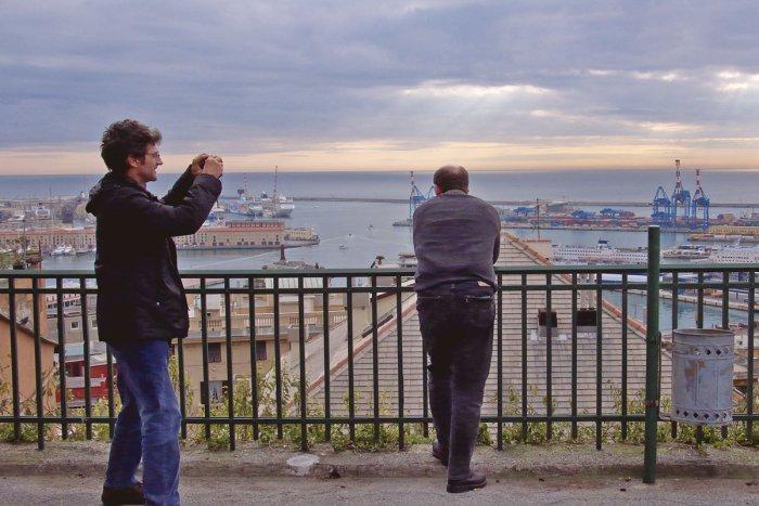 Aufnahmen vor dem Hafengebiet