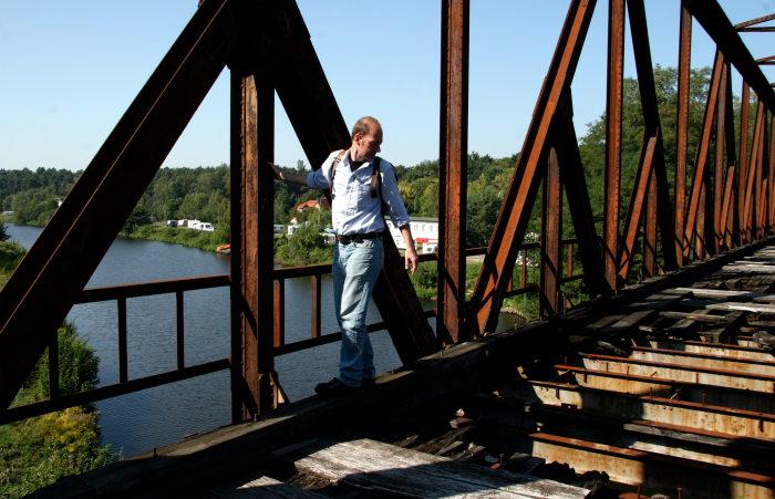 Auf der Wanderung: Martin Sonneborn