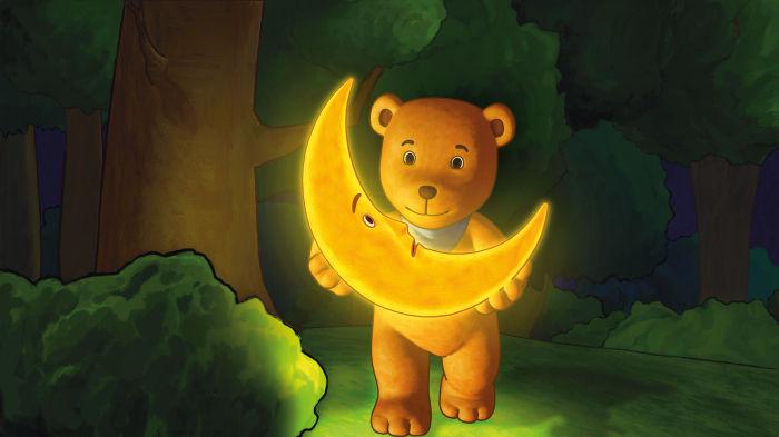 Dicke Freunde: Mond und Mondbär