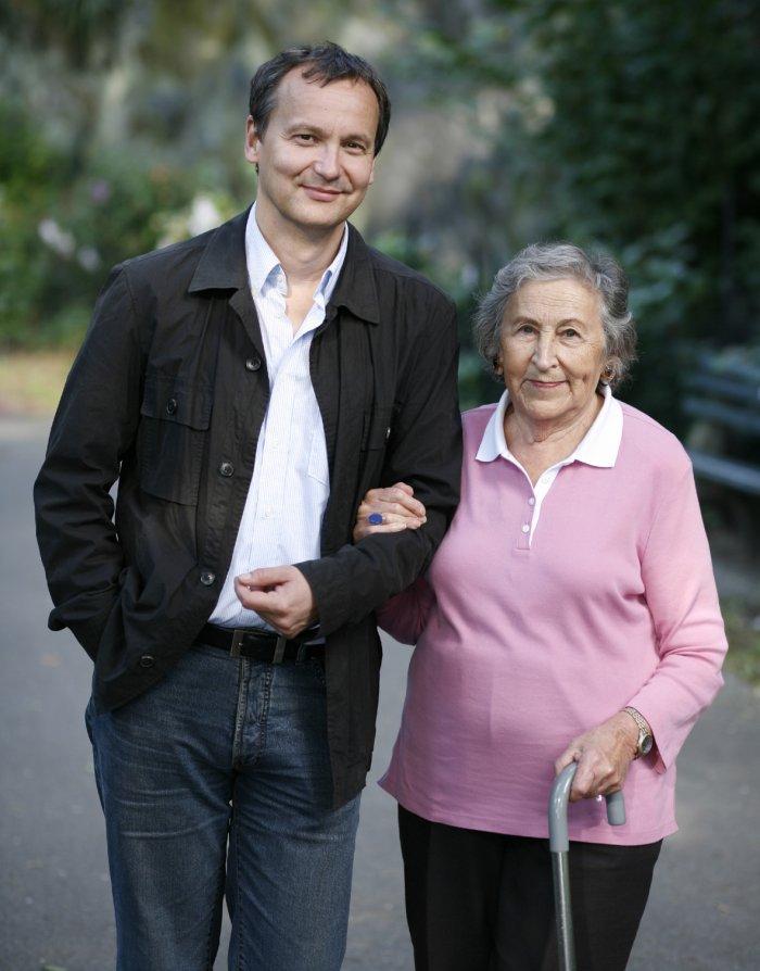 Knut Elstermann mit der Protagonistin