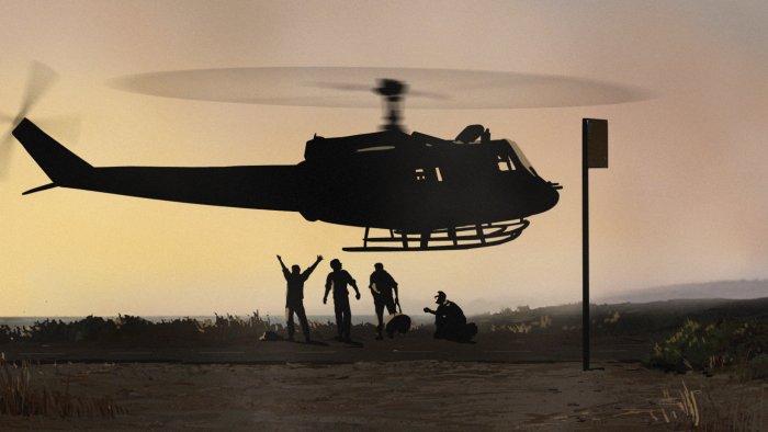 Soldaten werden mit dem Heli abgesetzt